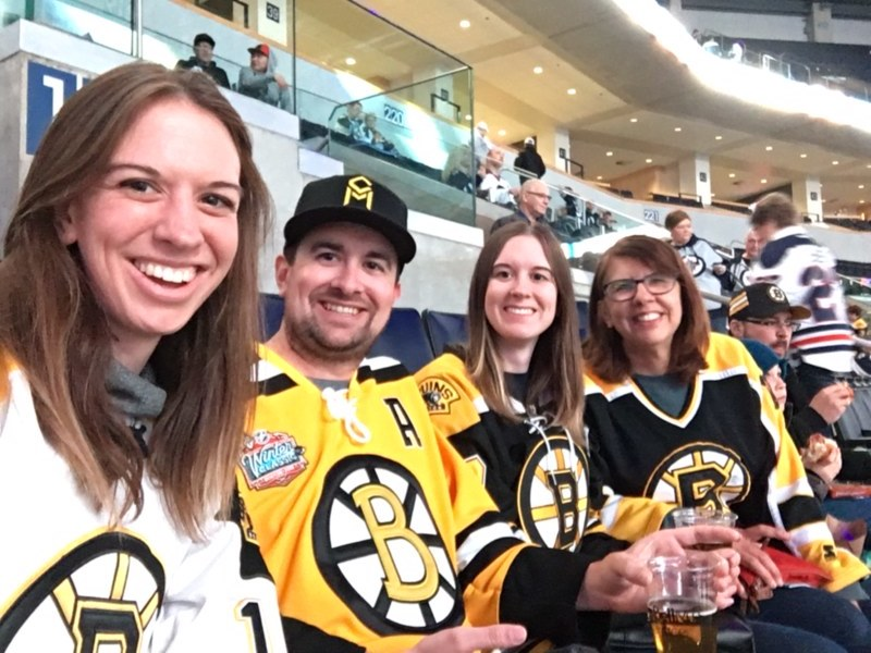 Family Bruin's Game in Winnipeg - March 27