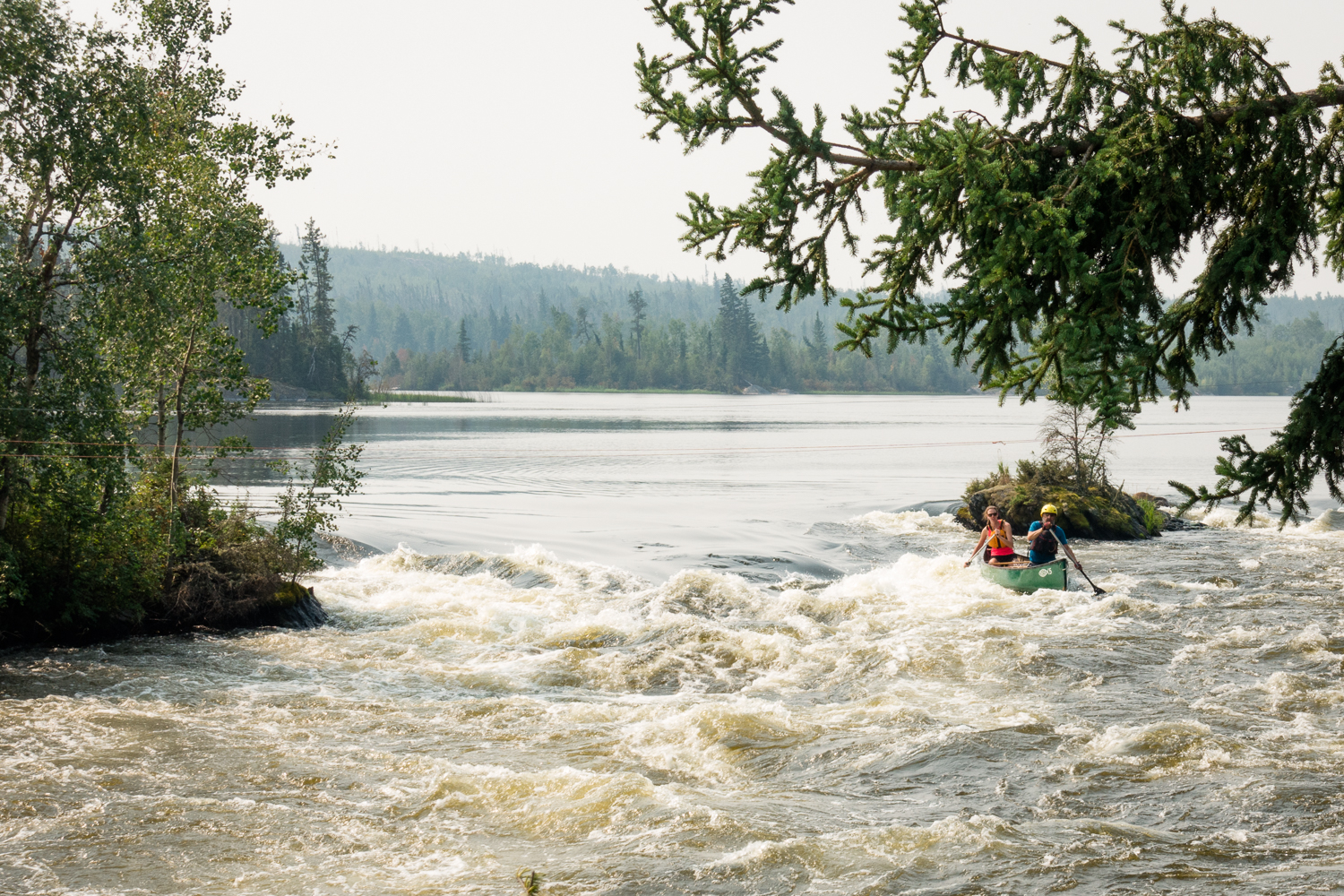 Paddling Mosquito Rapids on The Churchill River with Daryl. - August 15