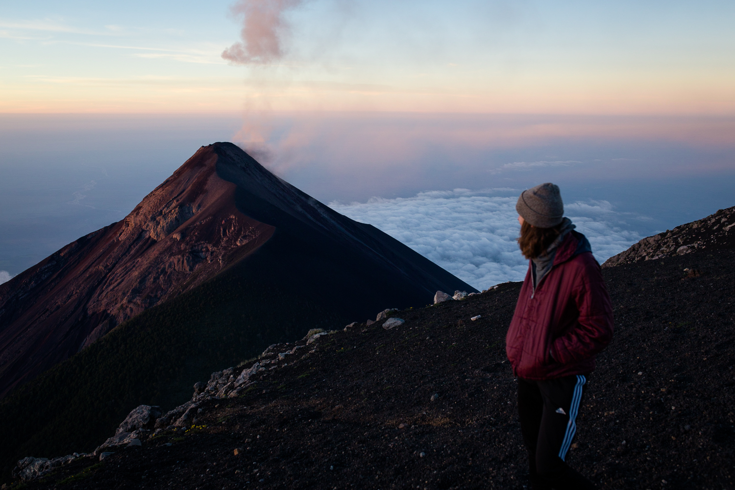 Summiting two volcanos in 24 hours with new friends - November 1View Blog