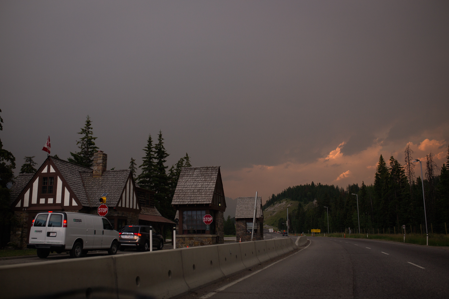 The whether was questionable arriving in Banff from Calgary our first evening, but cleared after a quick thunder storm. -
