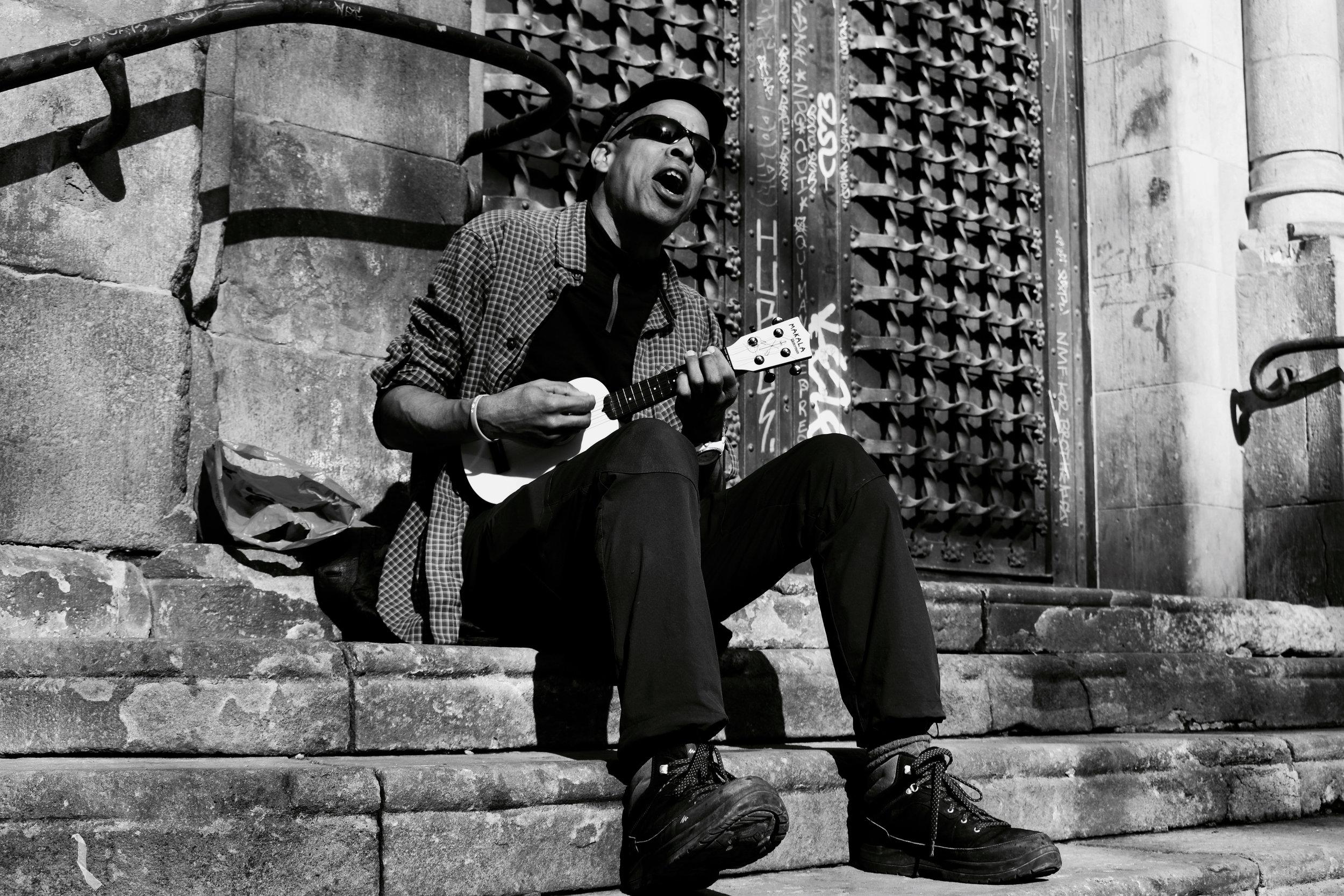 The Ukelele Man , Barcelona, January 2017