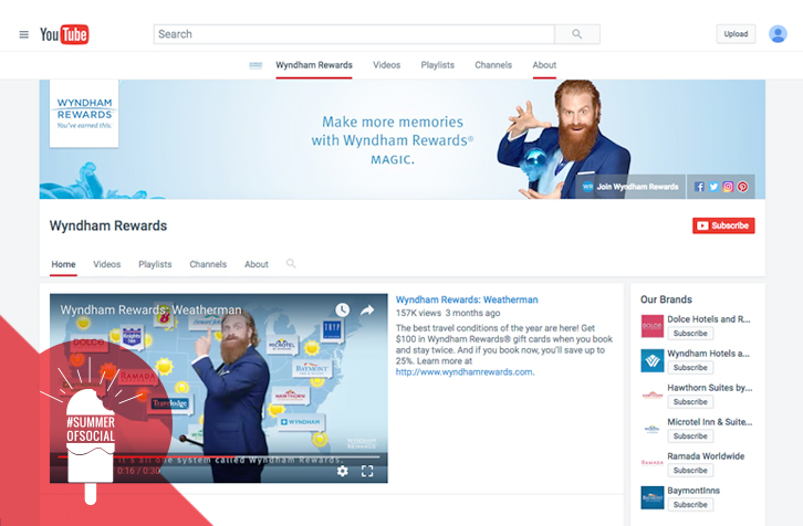"""Wyndham Rewards has forged a successful marketing campaign on YouTube, and the creation of the """"Wyndham Rewards Wyzard"""" has become one of the brand's most popular characters on the platform. (Photo: Wyndham Rewards)"""
