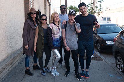 Post-photoshoot with Chachi Gonzales, Josh Leyva and the rest of the amazing team.