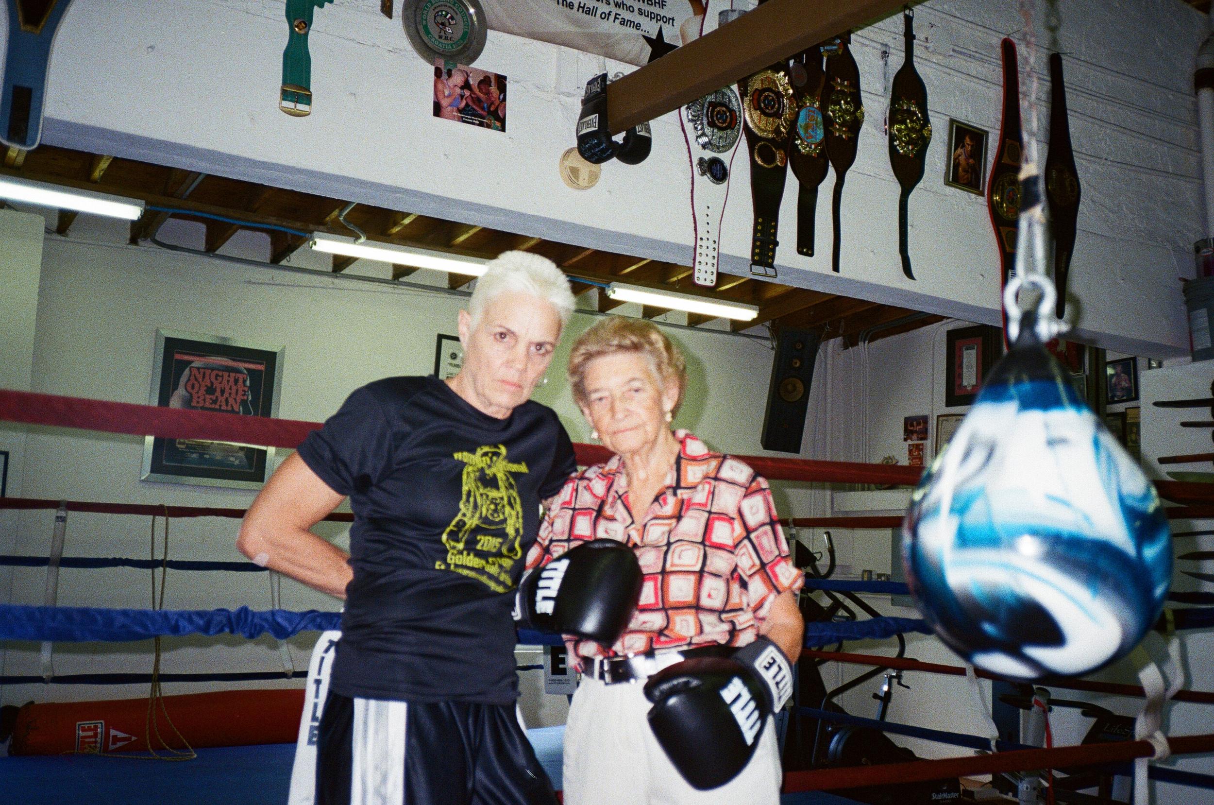 Thats my boxing-mom/coach Bonnie w Barbara... Bonnie is a (4x) world champion too.