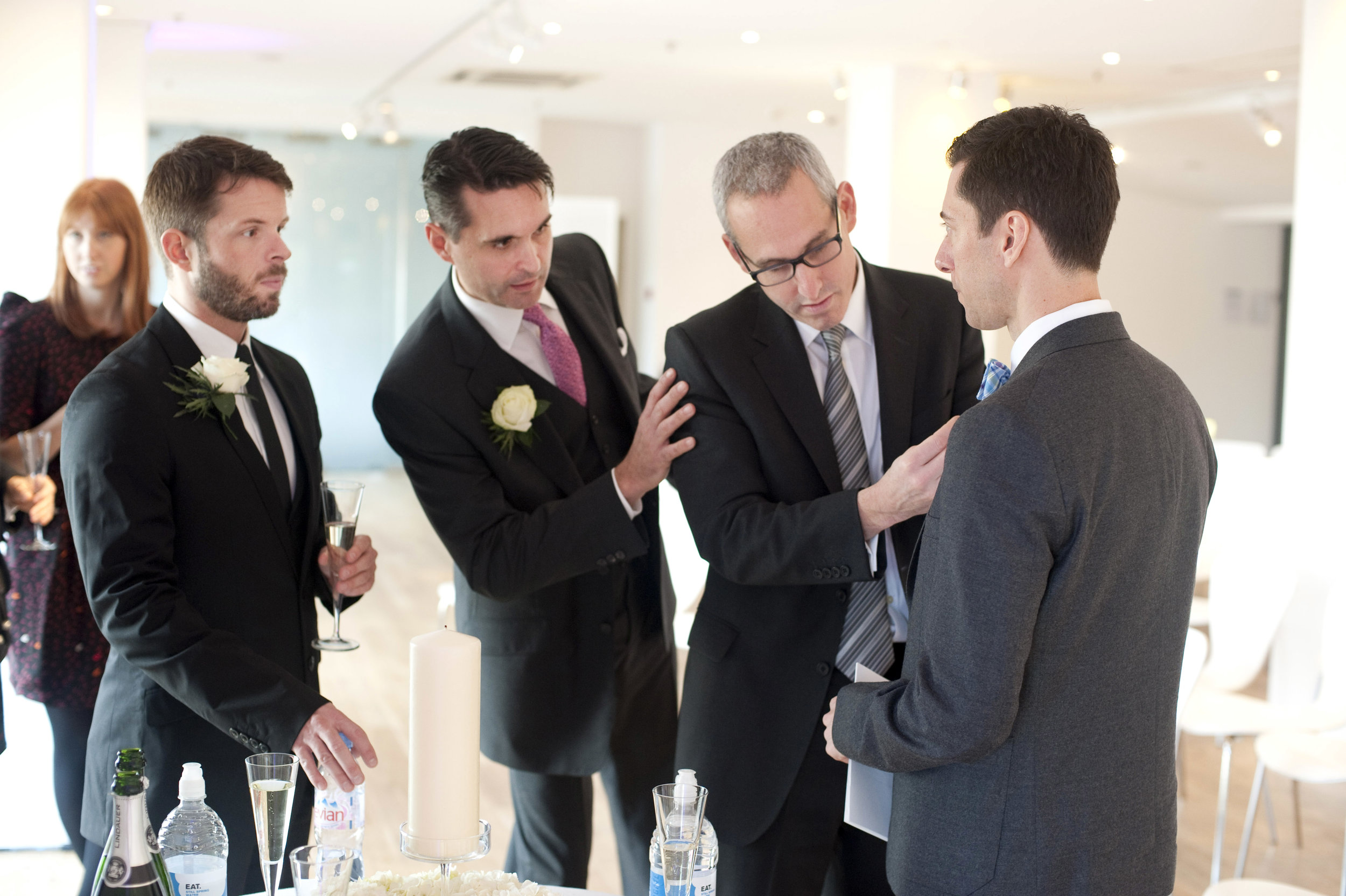 Groomsmen Give Last Minute Wardrobe Advice.jpg