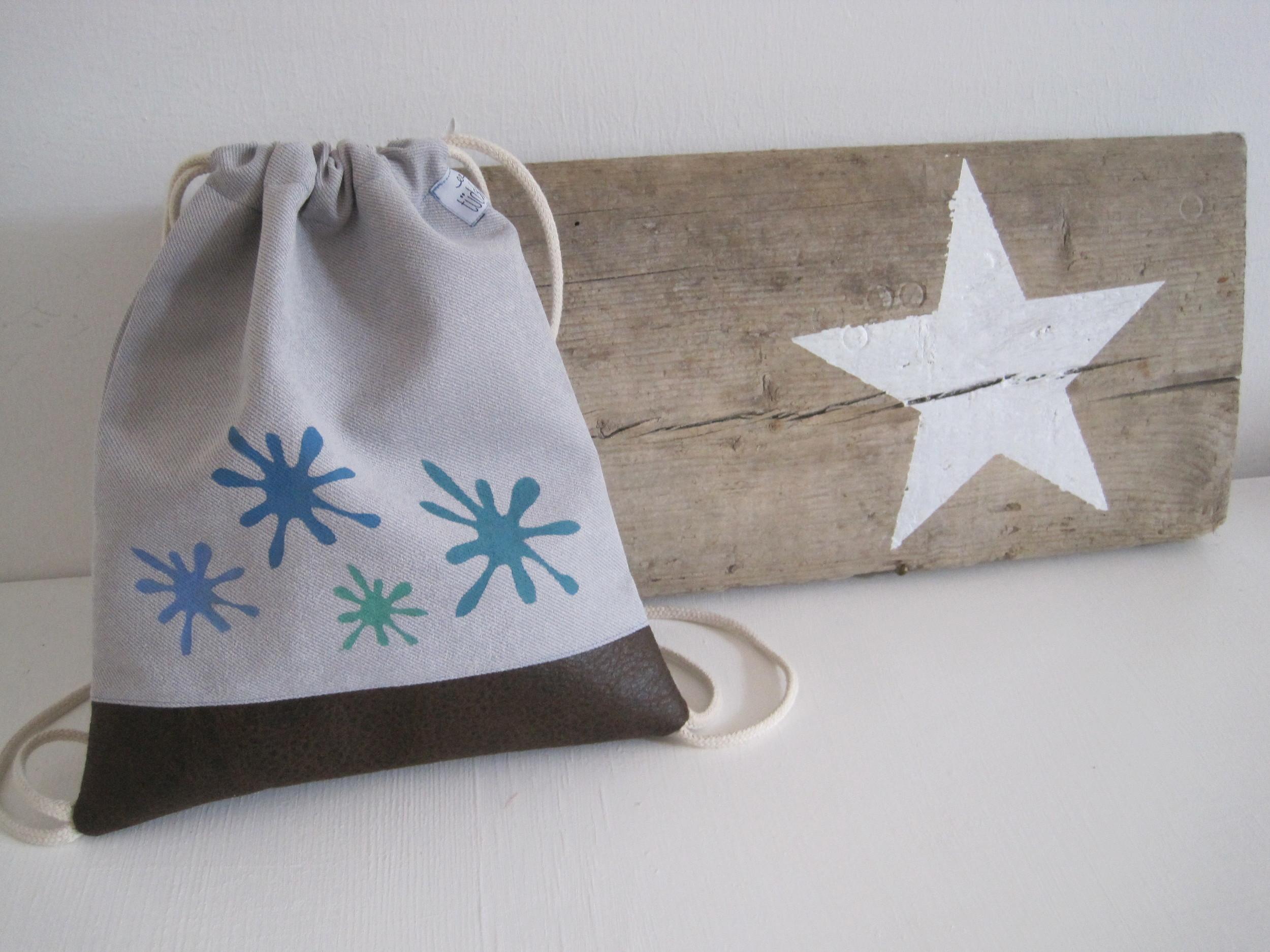 Kinderbeutelrucksack mit deinem Wunschnamen und Motiv  25€