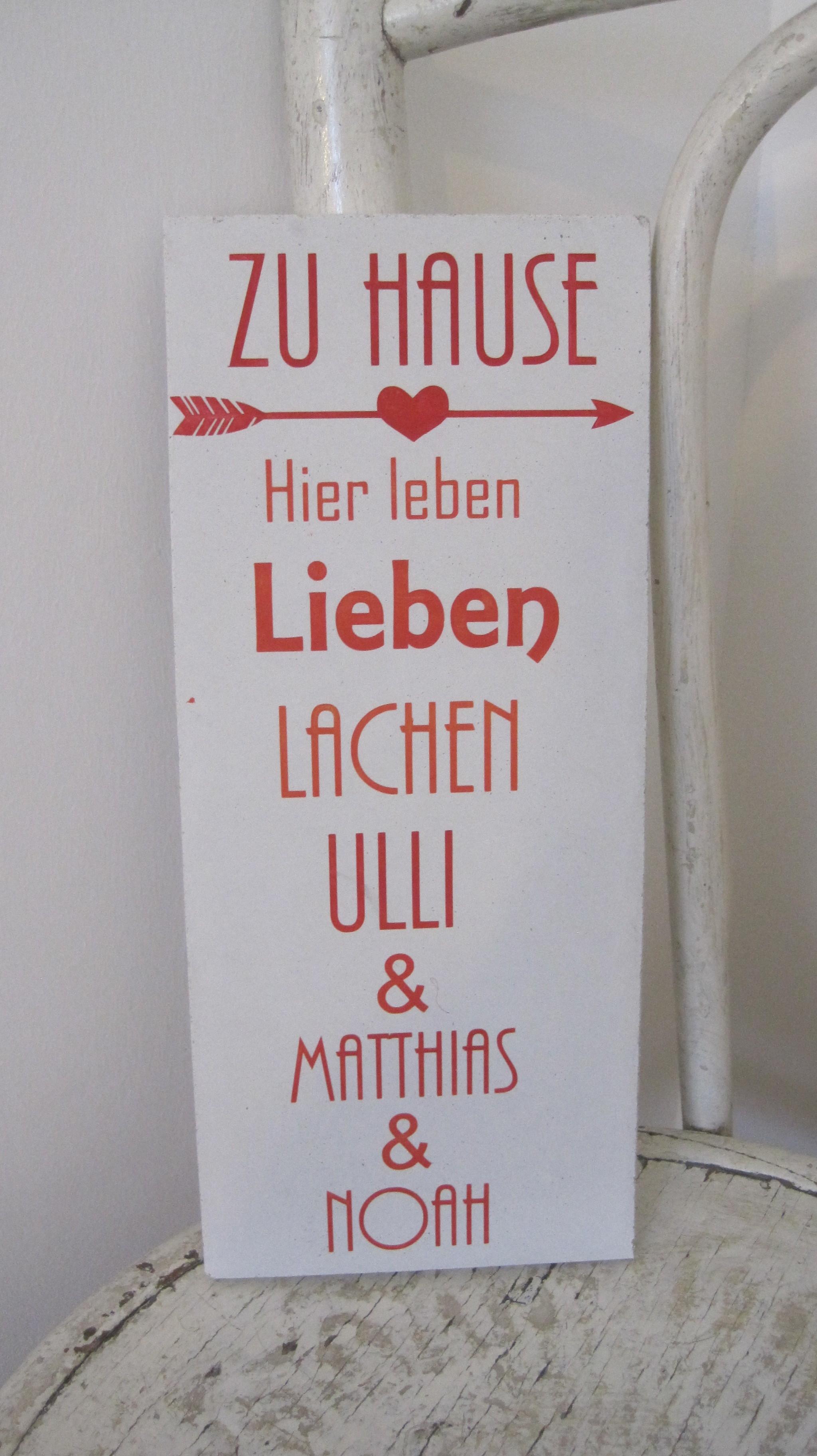 Schilder aus Beton mit deinem Wunschschriftzug, 19,-€