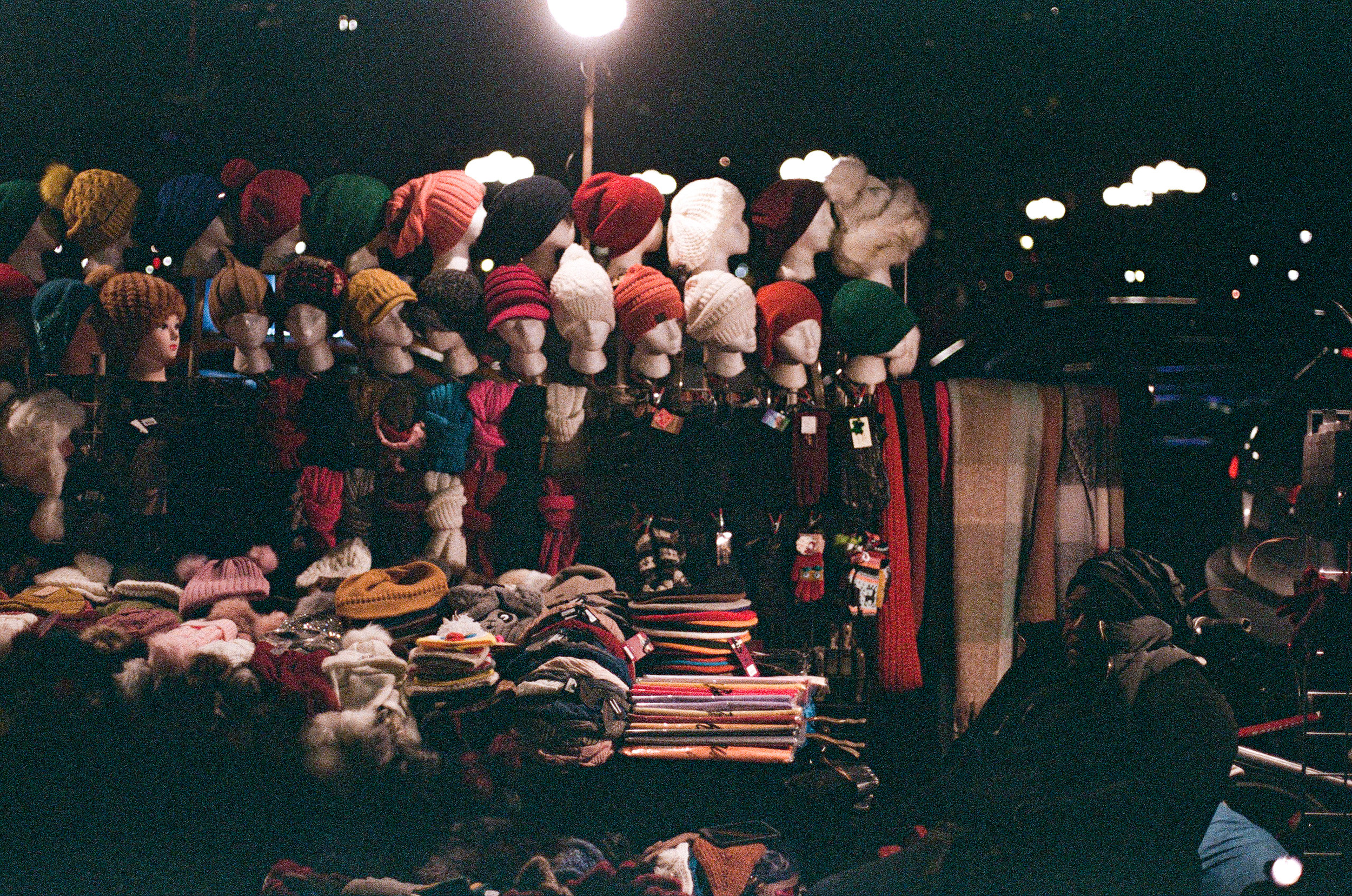 Hat Vendor at Night_Film Photography_NYC_Joe Curry Photography_2018.jpg