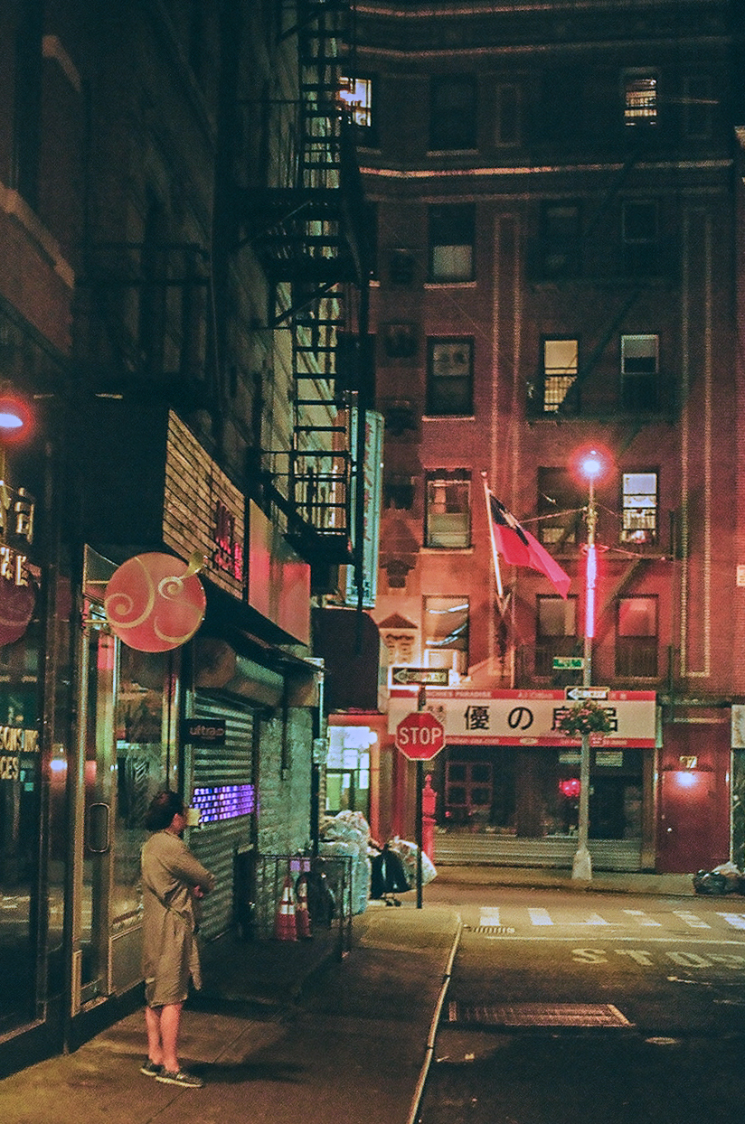 Lone Woman on Street, Chinatown, Manhattan_Film Photography_NYC_Joe Curry Photography_2018.jpg