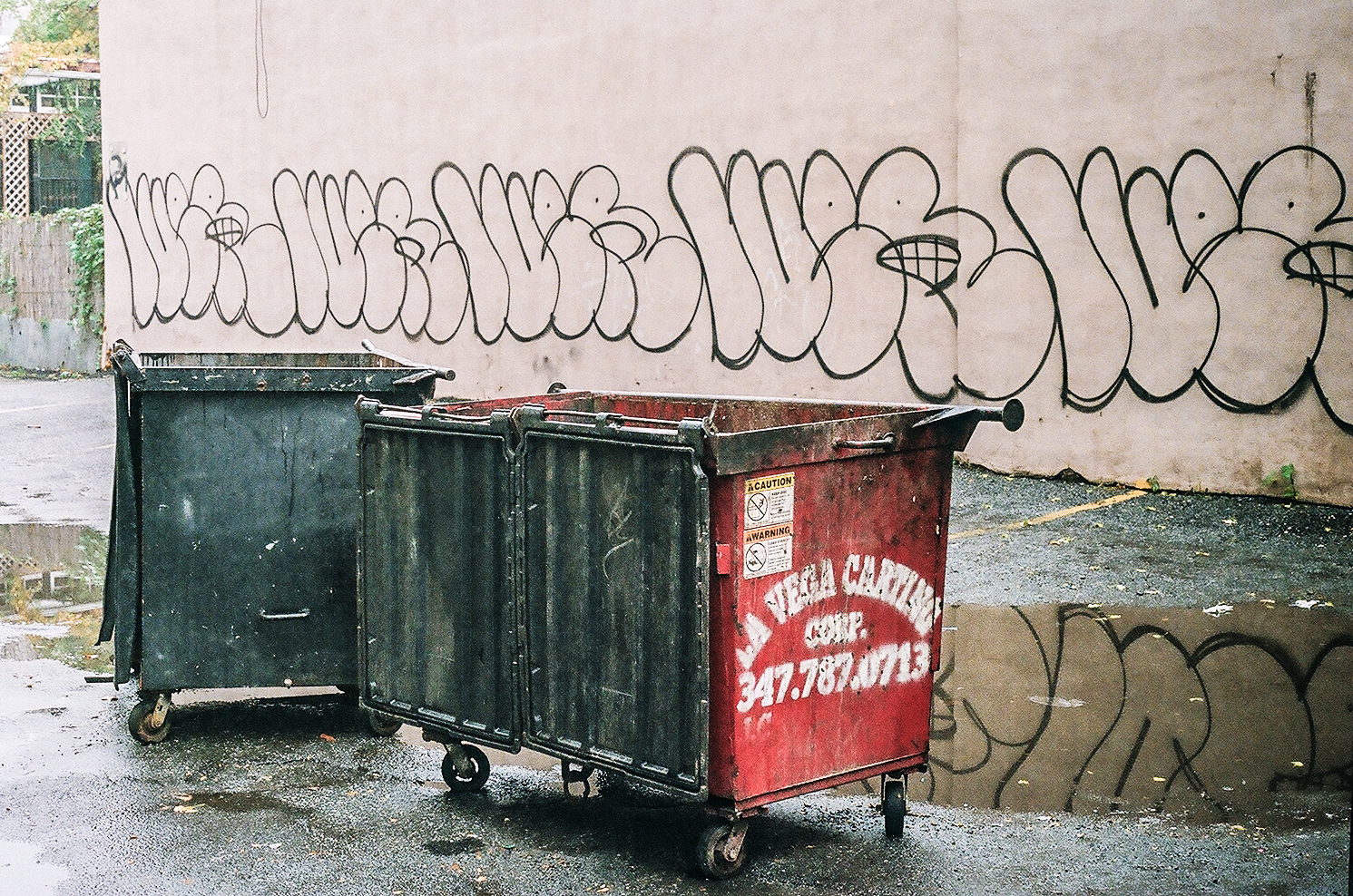 Two Dumpsters with Grafitti, Manhattan_Film Photography_NYC_Joe Curry Photography_2018.jpg