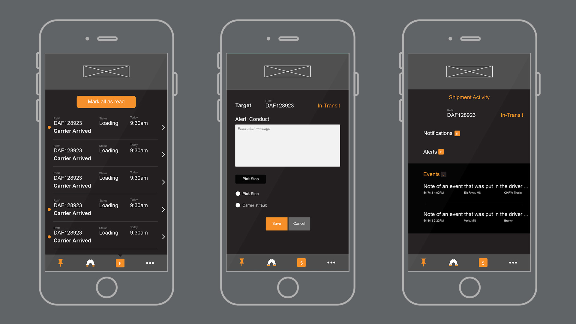 Mobile implementation of UI