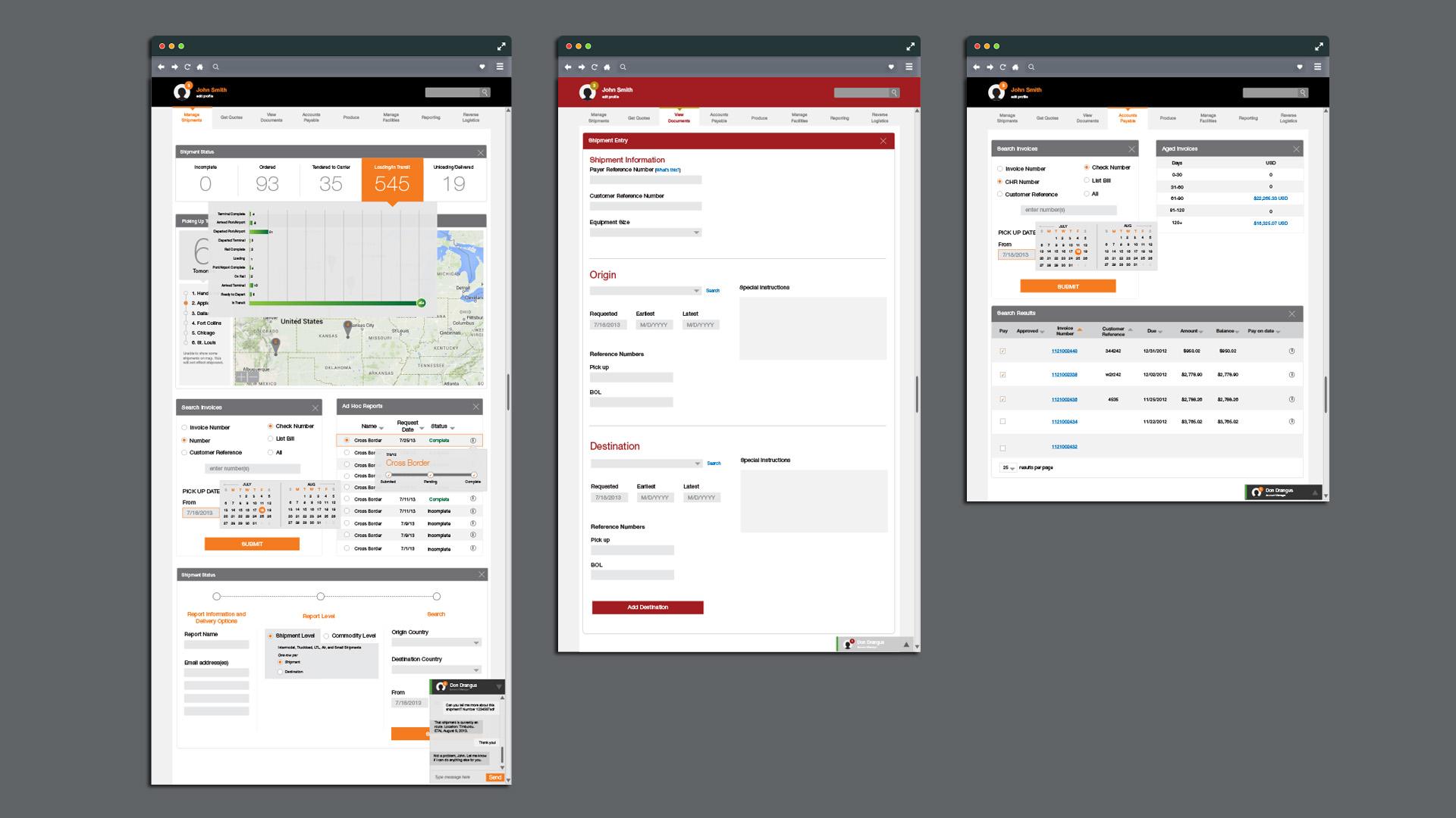 High-fidelity mock-ups of UI