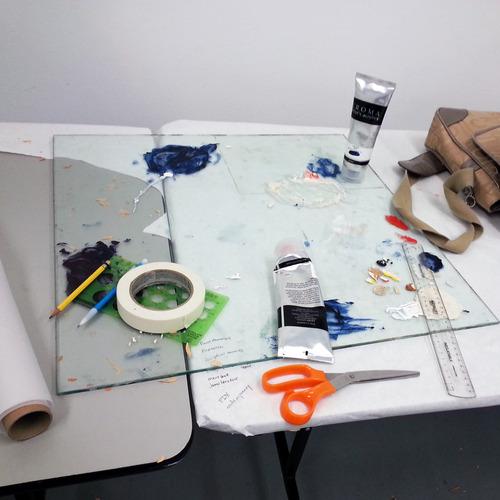 Alison's studio in Banff