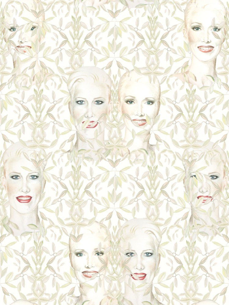 Justin Vivian Bond, My Model MySelf: Wallpaper, 2015. Image courtesy of VITRINE, London