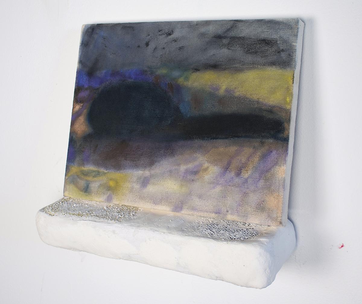3am  , 2014, kitchen sponge, plaster, and oil paint