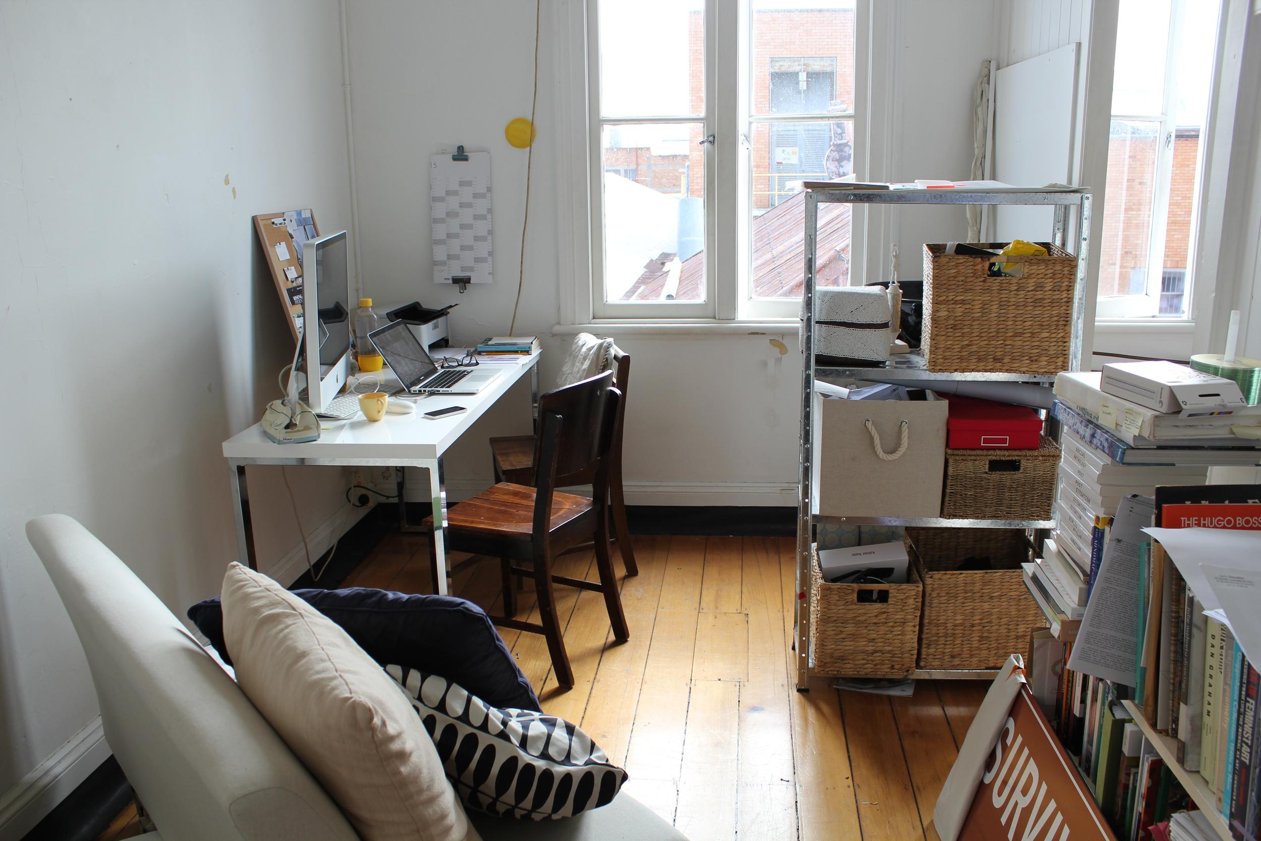Alexandra's studio.