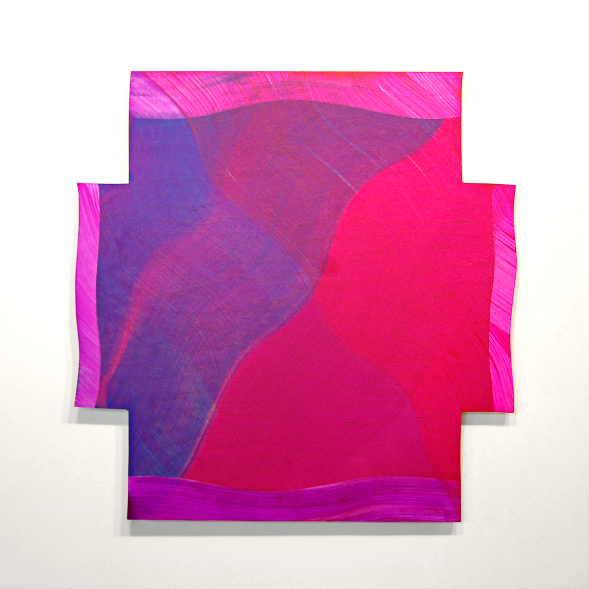 Blush Blaze, 2016, Acrylic on panel, 24x24 inches