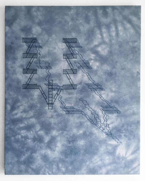 Acre , 2016, Hand-embroidery in cotton on Jobelan on canvas, 30 x 24 Inches