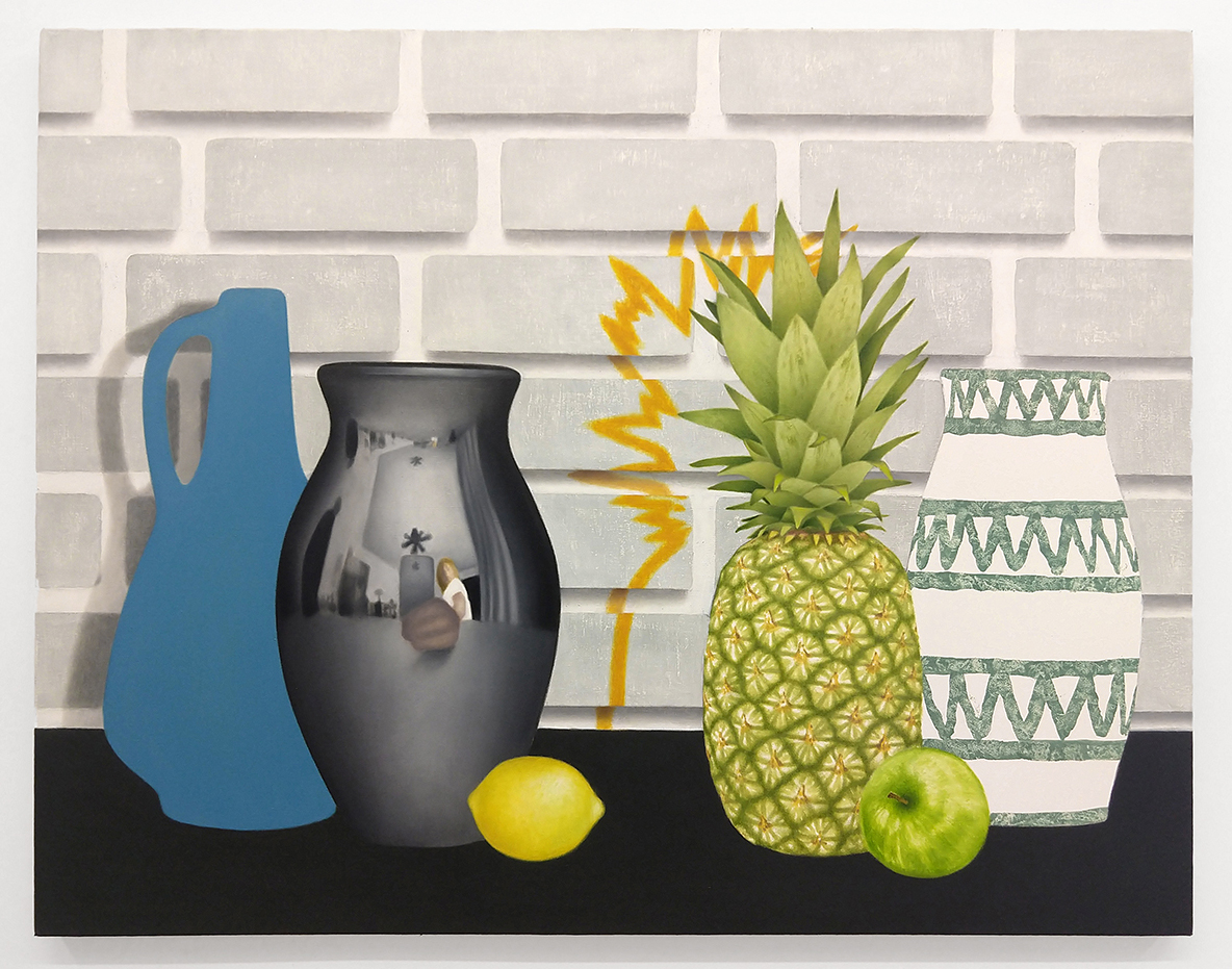 "Lemon Lineup , Oil on canvas, 33""x42"""
