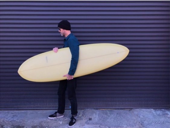 "6'2"" ENO Single Fin (model names in honor of Brian ENO)"