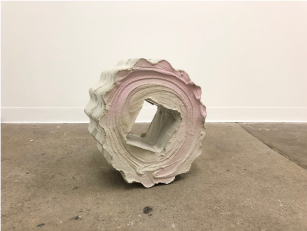"Rollin' Switches , 2019, concrete and pigment, 27""x6""x27"""