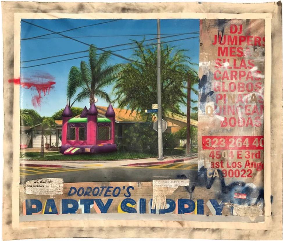 """Doroteos party supply,  82"""" X 73"""""""