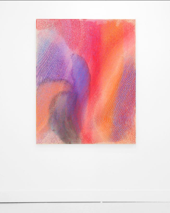 "Many Paths Along The Way,  2018, acrylic, pumice on canvas, 60""x48"""