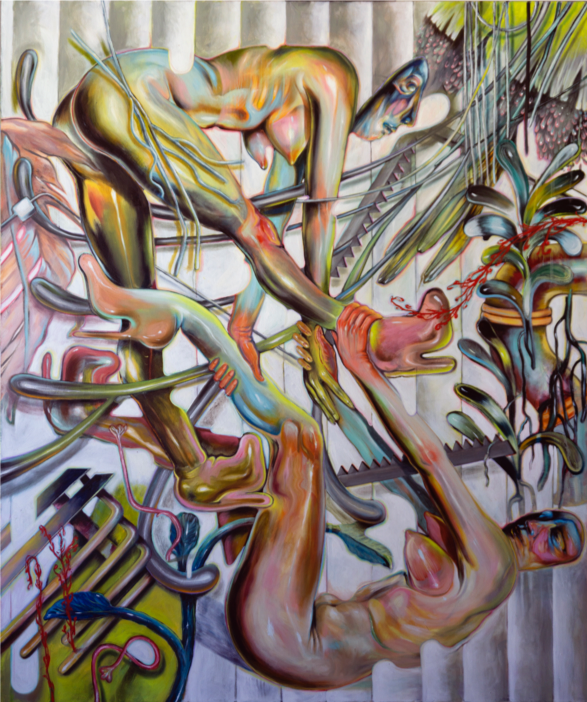 """Thinking About Tomorrow , 2019, oil on canvas, 52"""" x 62"""""""