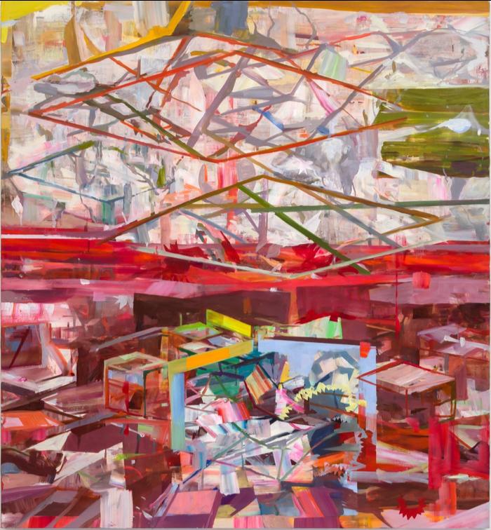 "Exposure , 2018, oil on canvas, 84""x72"""
