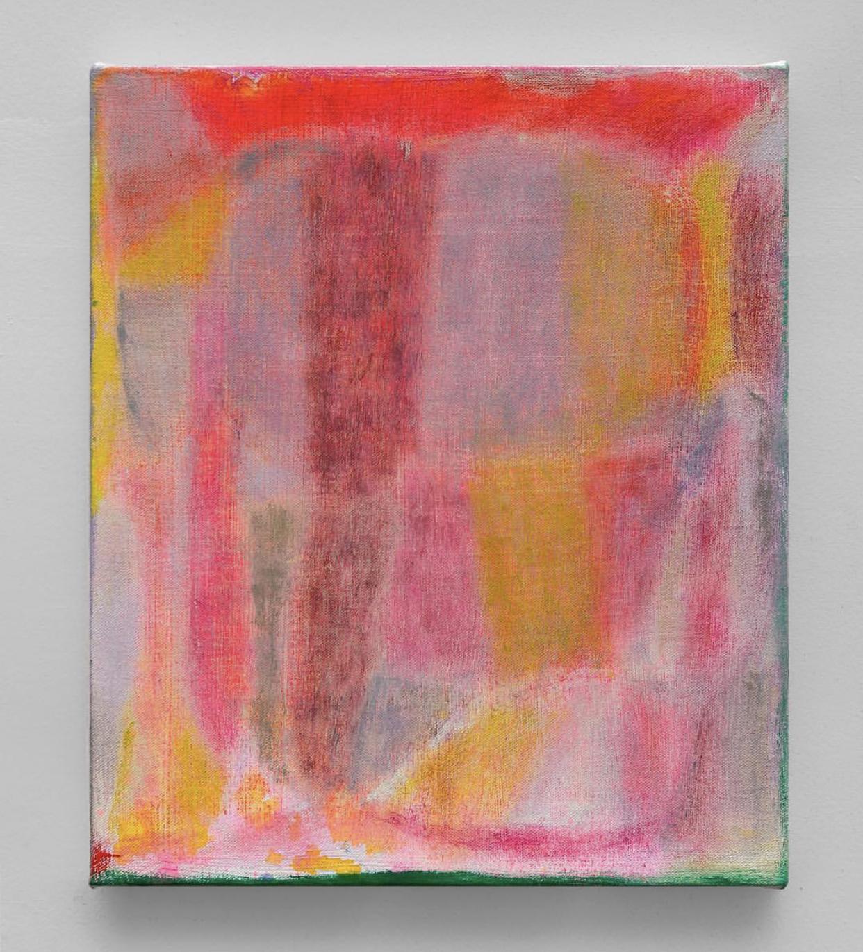 Chant , 2019, oil, acrylic, and acryla-gouache on canvas, 14 x 12 inches