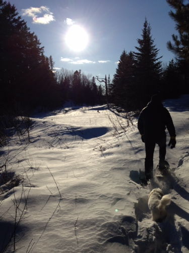 Because snowshoeing with my dad.