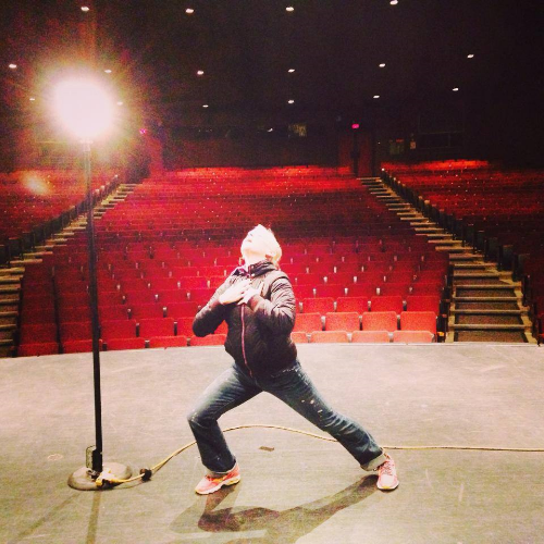 If I was famous, I'd totally take a break from filmmaking to return to my one, true love - the stage. This is me practicing for that eventuality.