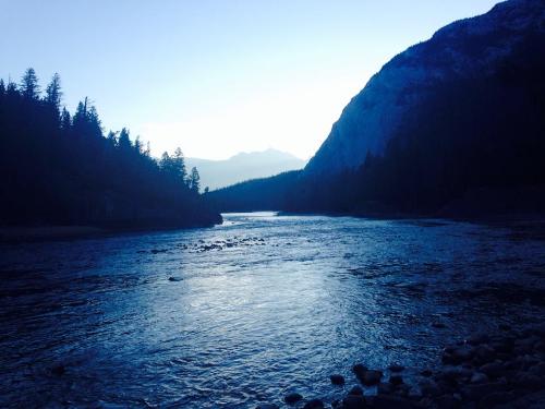 Running in Banff.