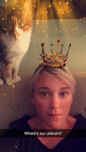 BY adding this photo I am not suggesting I am, in fact, the heroine in question, this photo just amuses me and makes me remember my cat, Oz.