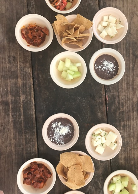 A parade of snacks at La Negrita.