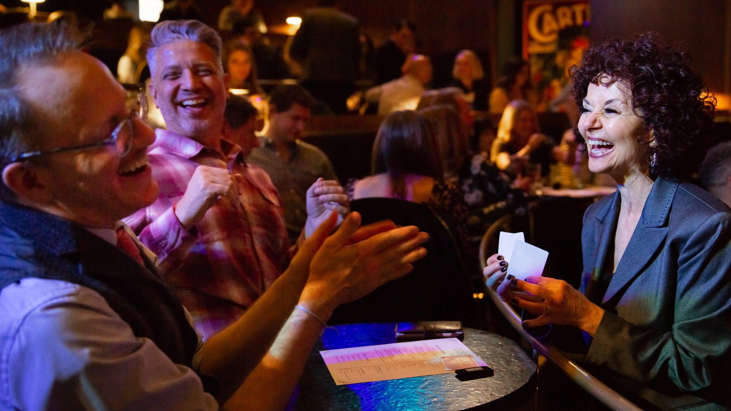 Jan Rose performing table magic at Chicago Magic Lounge.jpg