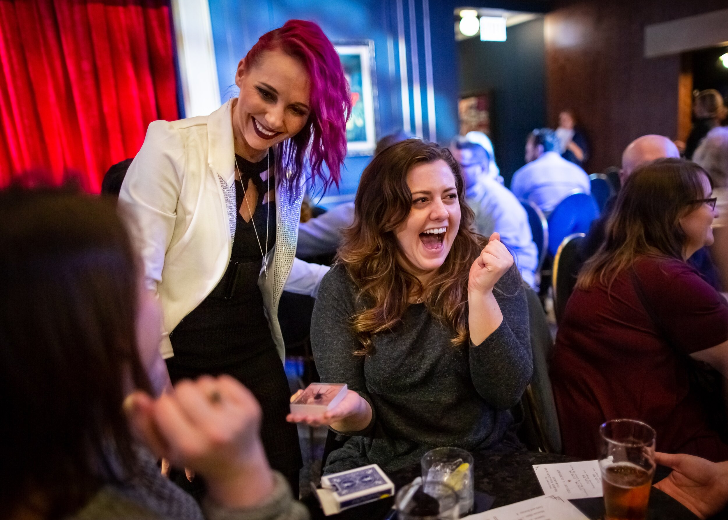 Magician Paige Thompson amazes guests.jpg