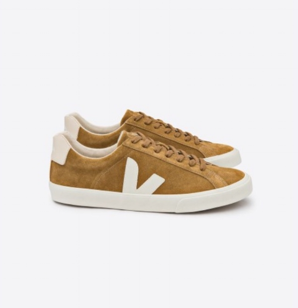 Pictured above is the VEJA Esplar in Camel Suede