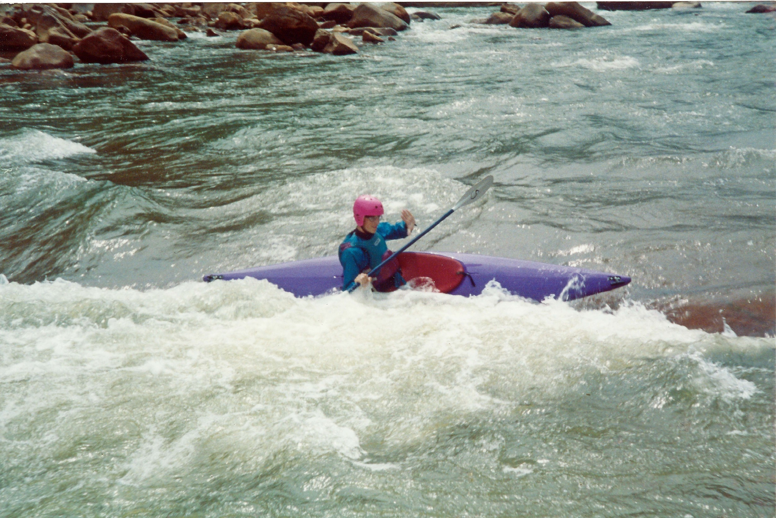 Kevin, on the river in his teenage years.