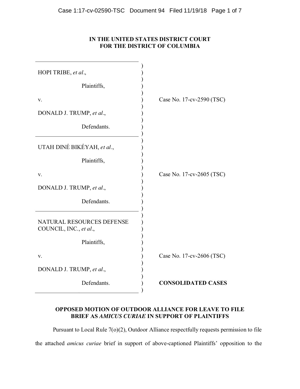 Click to view or download a copy of Outdoor Alliance's amicus brief.
