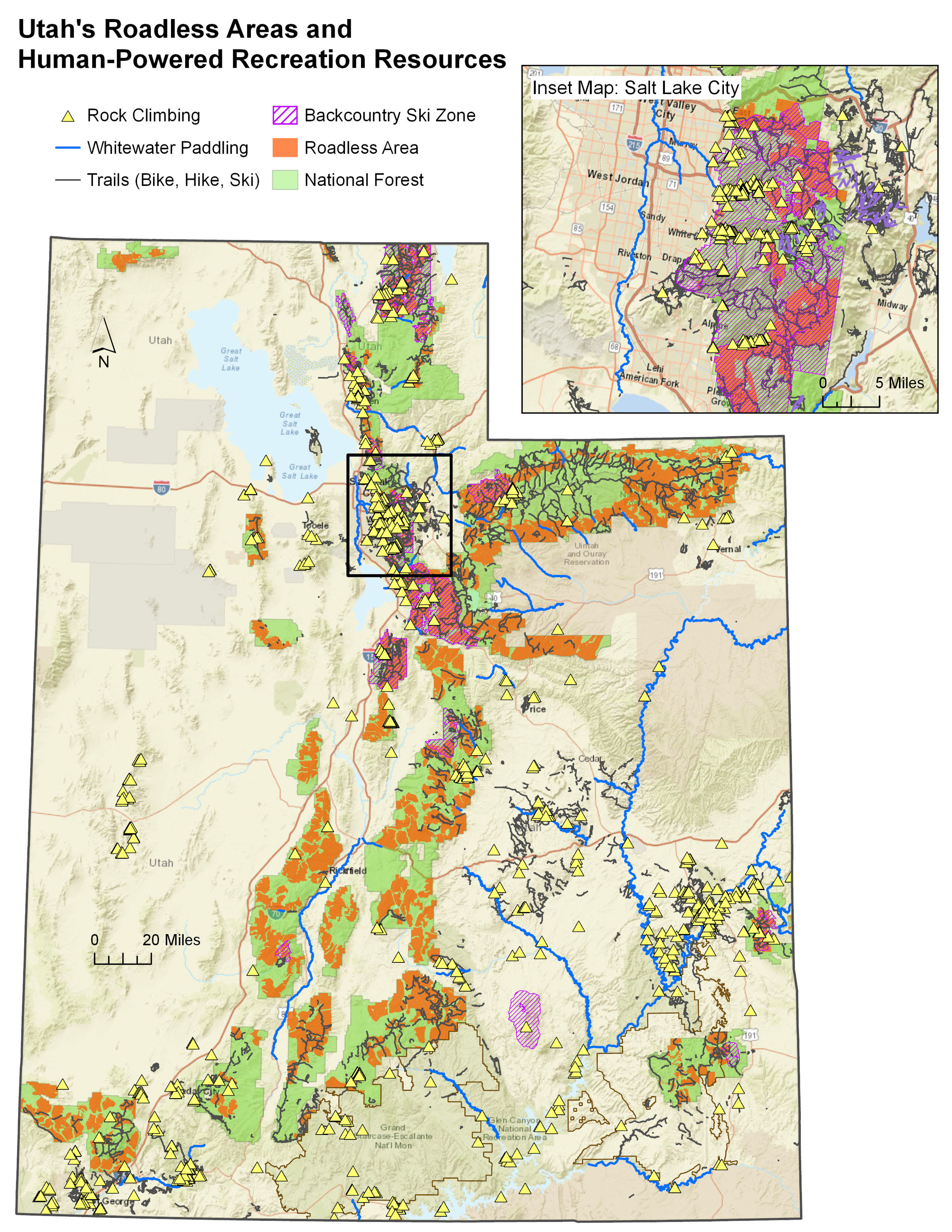 Utah's Roadless Areas and Rec Resources