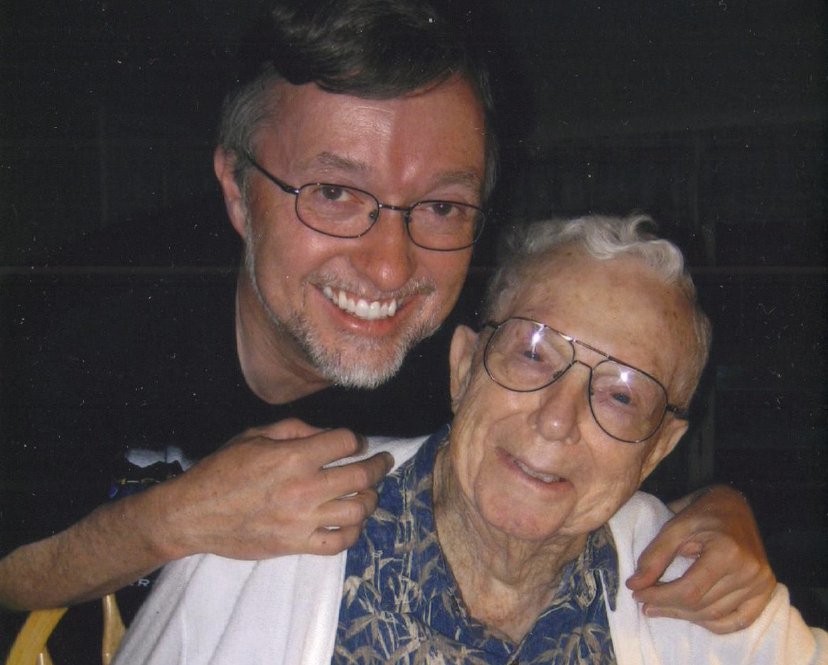 NOW: Current President, Brian Meyer, with founder Henry Meyer in 2008.
