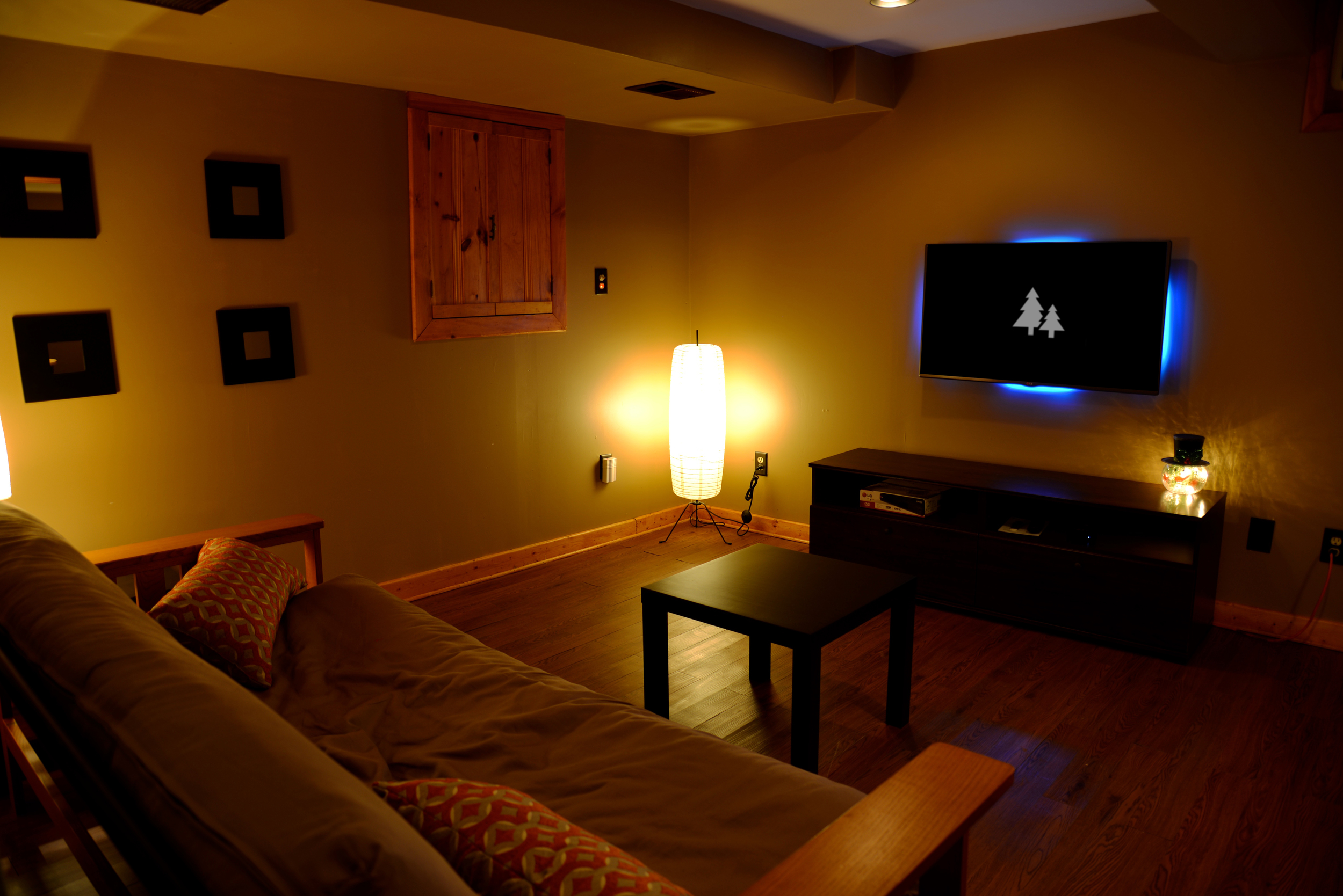 Lower level living space.