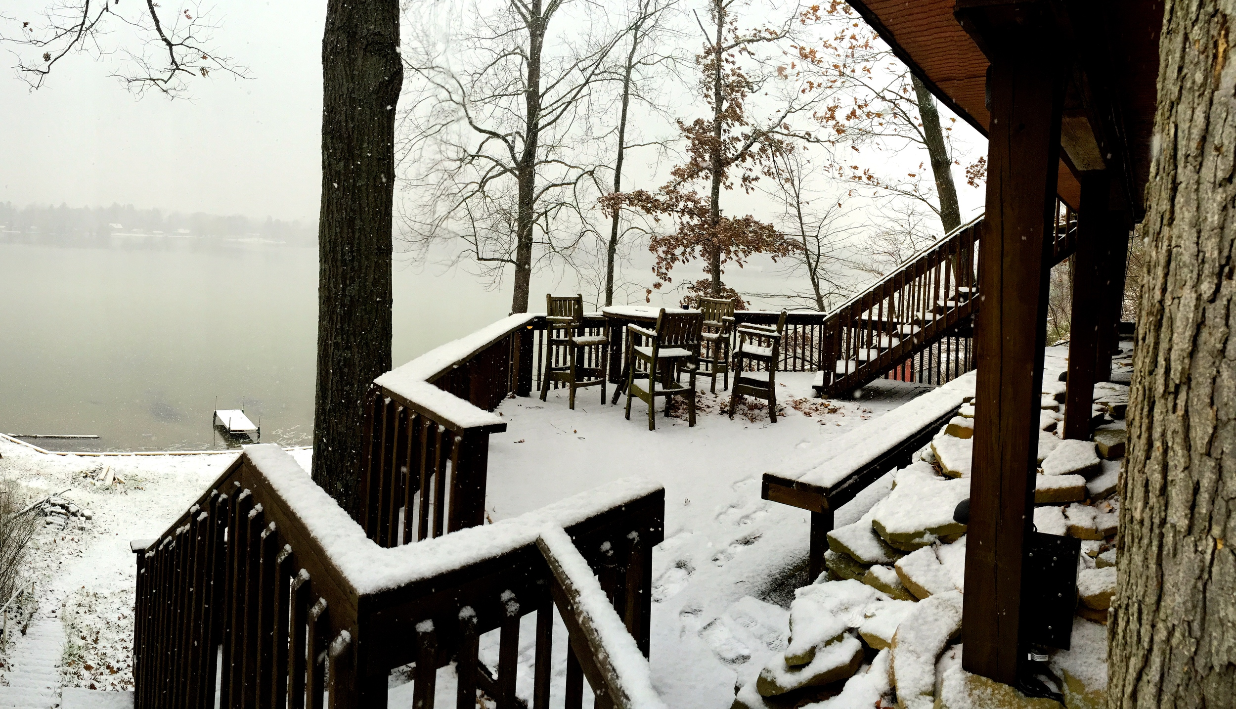 View of Sweezey Lake - winter 2014.