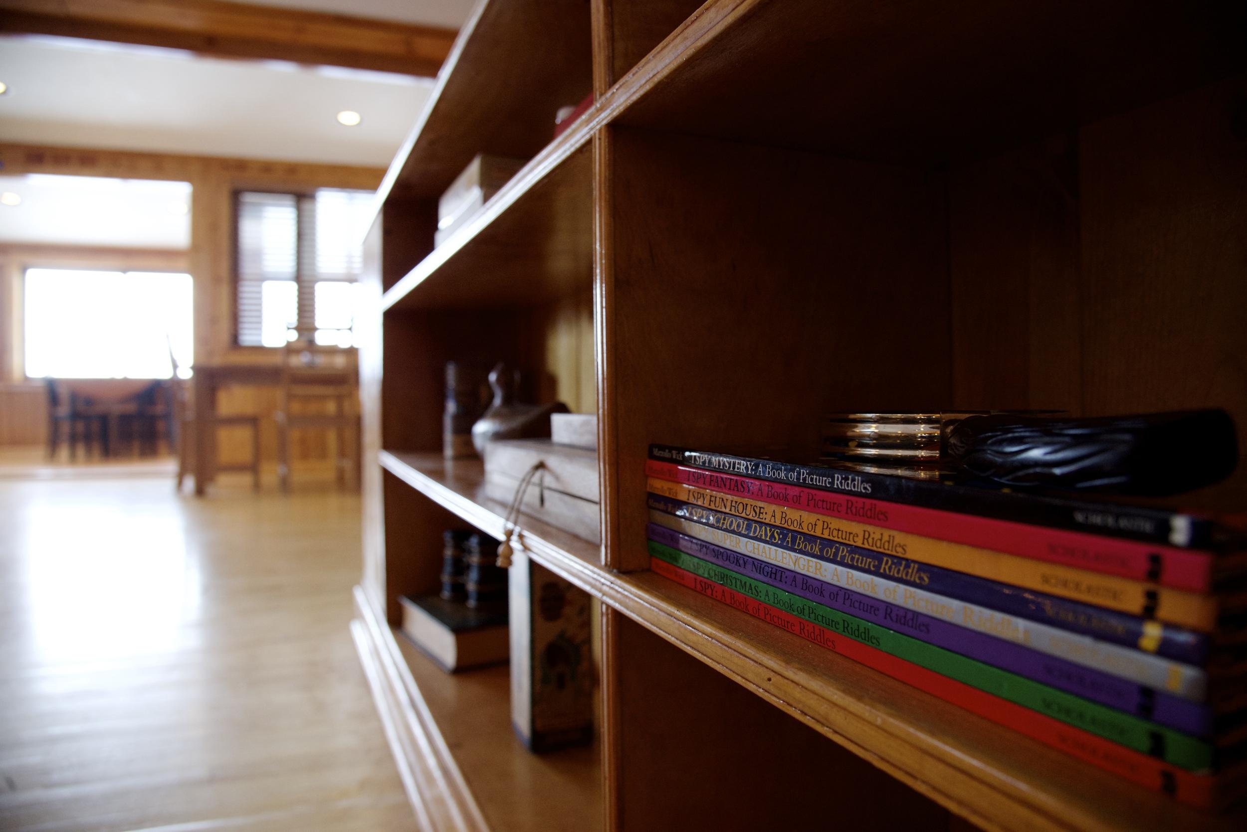 Game shelf.