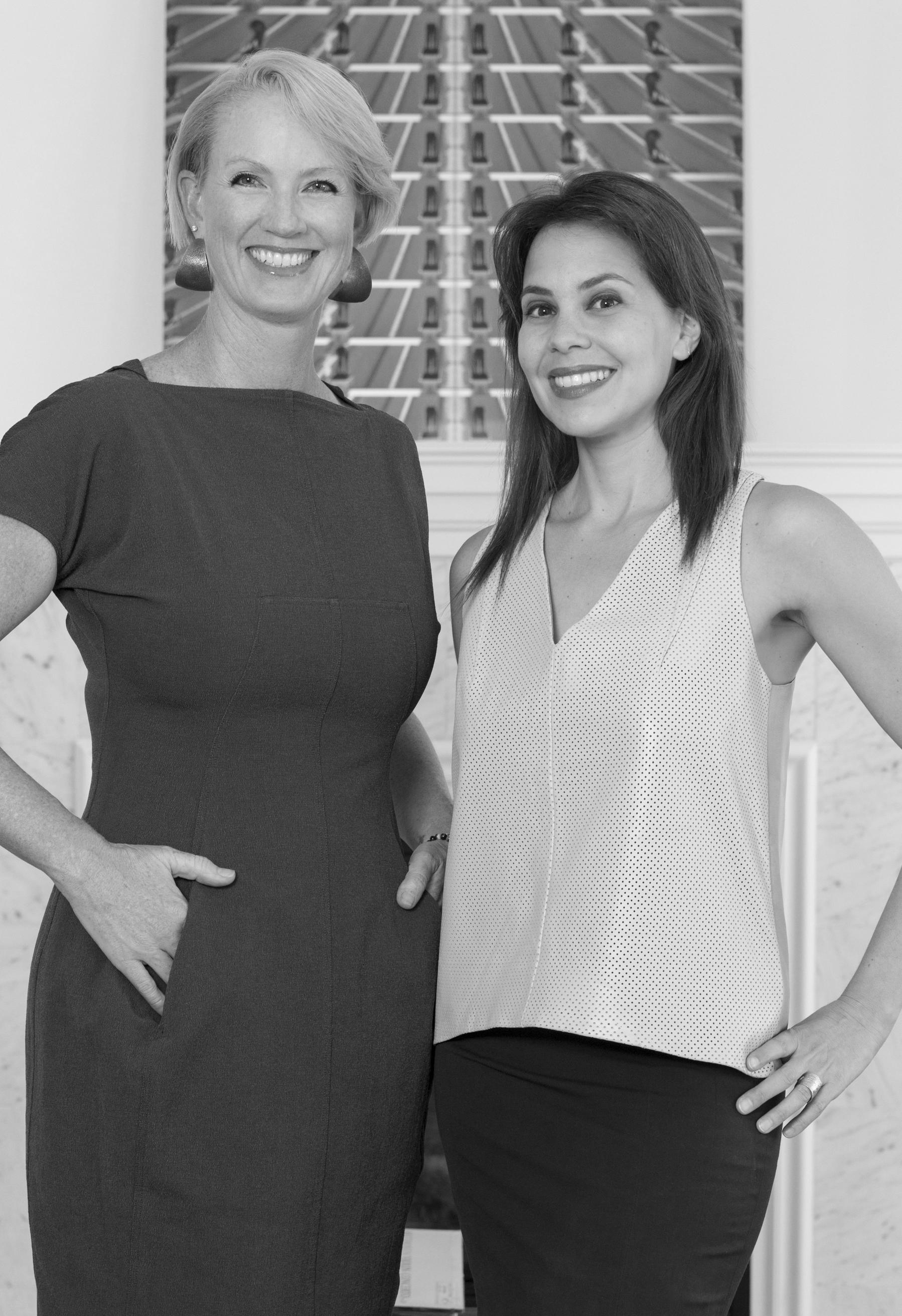 The Art of Change Co-Founders Karen DeTemple and Nicole Polletta Portrait