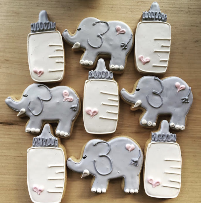 Baby Shower cookies by ECBG Bakery