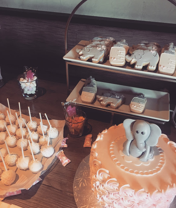 Baby Shower sweets table by ECBG Bakery