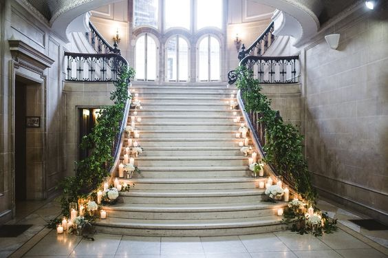 Grand staircase at the Armour House