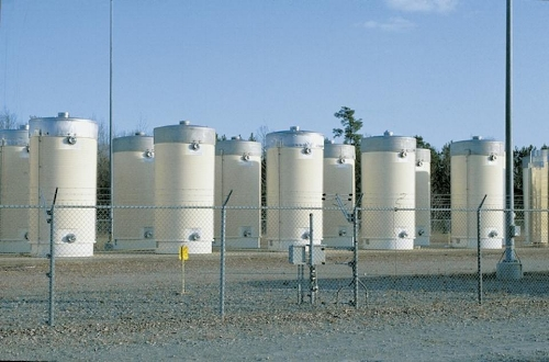 Dry Cask Storage. Photo Source: Forbes